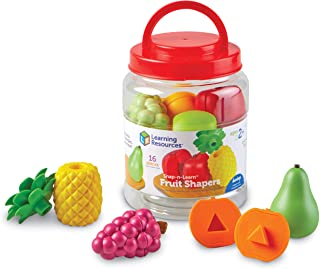Learning Resources LER6715 SNAP-N-Learn Fruit Shapers, Multi