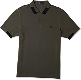 Fred Perry Mens BLOCK TIPPED PIQUE SHIRT Polos
