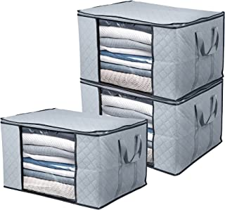 Clothes Storage Bags Under Bed Storage Bags Large Capacity Organizer with Reinforced Handle Thick Fabric Large Clear Windo...
