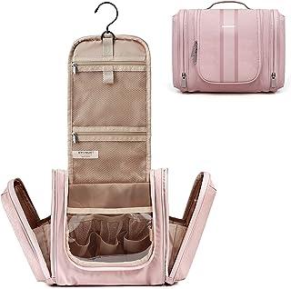 Hanging Toiletry Bag, BAGSMART Travel Toiletry Organizer with hanging hook, Water-resistant Cosmetic Makeup Bag Travel Org...