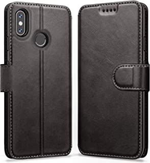 ykooe Xiaomi Redmi Note 6 Pro Case, (Wallet Series) PU Leather Flip Case Protective Cover with Kickstand Magnetic Closure for Xiaomi Redmi Note 6 Pro (Black)
