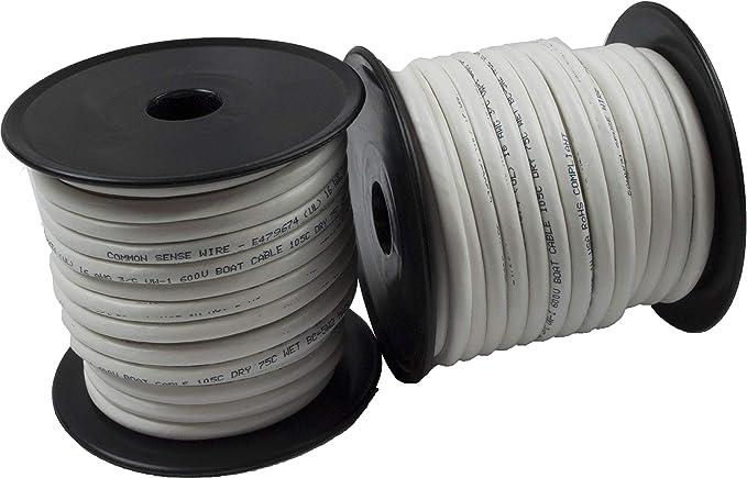 5 m Noir Batterie Câble De Soudage 16 mm² 110 A-Souple Marine Boat Automotive Wire