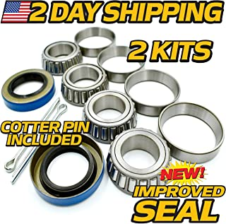 (2 Kit) EZGO Golf Cart Front Axle Wheel Bearing Hub Rebuild Kit 50892G1, 12092G1, 25146G1, 00798G8, HD Switch, EZ-GO, EZ GO