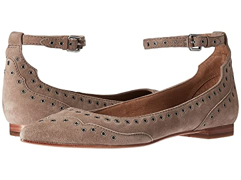 excellent cheap online outlet locations for sale Frye Sienna Grommet Suede Flat free shipping latest collections WBSRivFT