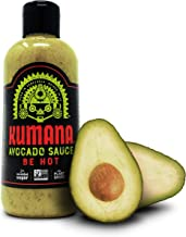 Kumana Avocado Hot Sauce - Hot. A Savory Keto Friendly Hot Sauce made with Ripe Avocados, Mango and Habanero Peppers. Ketogenic & Paleo. Gluten Free, No Added Sugar & Low Carb. 13.1 Ounce Bottle.