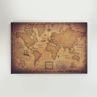 World Travel Map Pin Board - Golden Aged - Made in Ohio, USA!