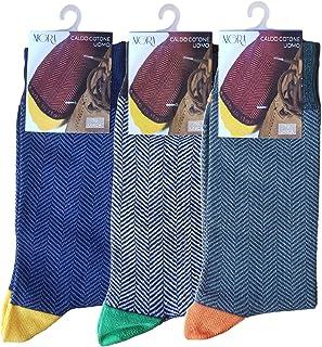 Calcetines cortos de invierno para hombre, 3 pares Calcetín corto de cálido algodón invernal de fantasía