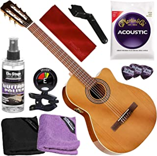 La Patrie Concert CW QIT Classical Guitar w/Tuner and Basic Accessory Bundle