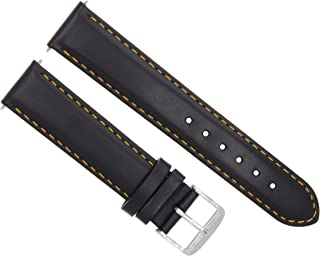 20MM LEATHER SMOOTH WATCH BAND WATERPROOF STRAP FOR ROLEX DATEJUST 1601 BLACK OS