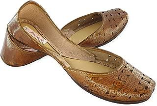 Fulkari Women's Pure Leather Casual Jutti Soft Leather | Punjab Ladies Juti | Ethnic Mojari Flats |