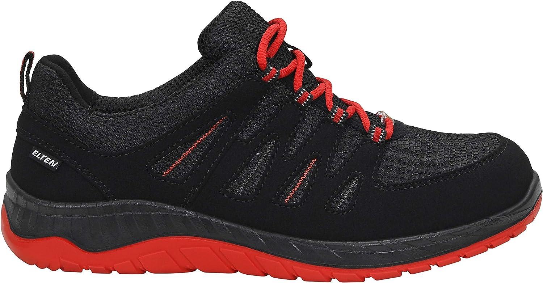ELTEN Elten Sicherheitsschuhe Maddox Black-Red Low S3 Zapato Industrial Unisex Adulto Herren Leicht Schwarz//Rot Stahlkappe Sportlich