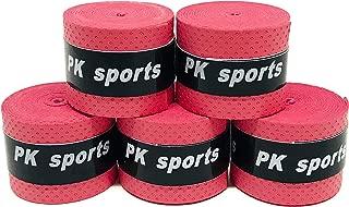 グリップテープ 5個セット (5色セット・黒・赤・青・紫・黄・など各色セットあり) ドライ多孔 オーバーグリップ テニス バドミントン 太鼓の達人 他