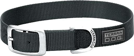 "Terrain D.O.G. Nylon Single-Ply Dog Collar, 3/4"" by 17"", Black"