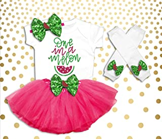 One In A Melon First Birthday Outfit Girl One In A Melon Birthday Outfit One In A Melon 1st Birthday Girl Outfit Girl's Summer Birthday