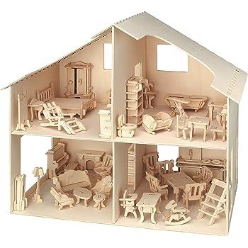 VERDE Casa delle Bambole Miniatura Vecchio Stile pastella//IMPASTATRICE