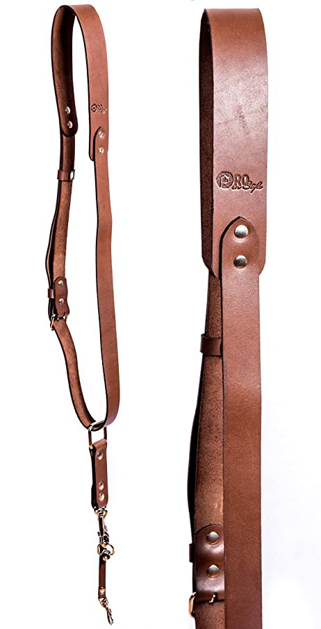 Camera Strap Accessories for One Camera - Professional Single Leather Harness Shoulder Strap Solo Camera Quick Release Gear for DSLR/SLR by ProInStyle.