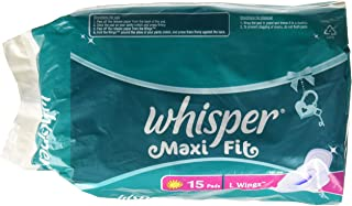 Whisper Maxi Fit Sanitary Pads - Large Wings
