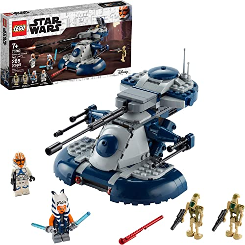 LEGO Star Wars: The Clone Wars Armored Assault Tank (AAT) 75283 Building Kit Awesome Construction Toy for Kids with Ahsoka Tano Plus Battle Droid Action Figures (286 Pieces)