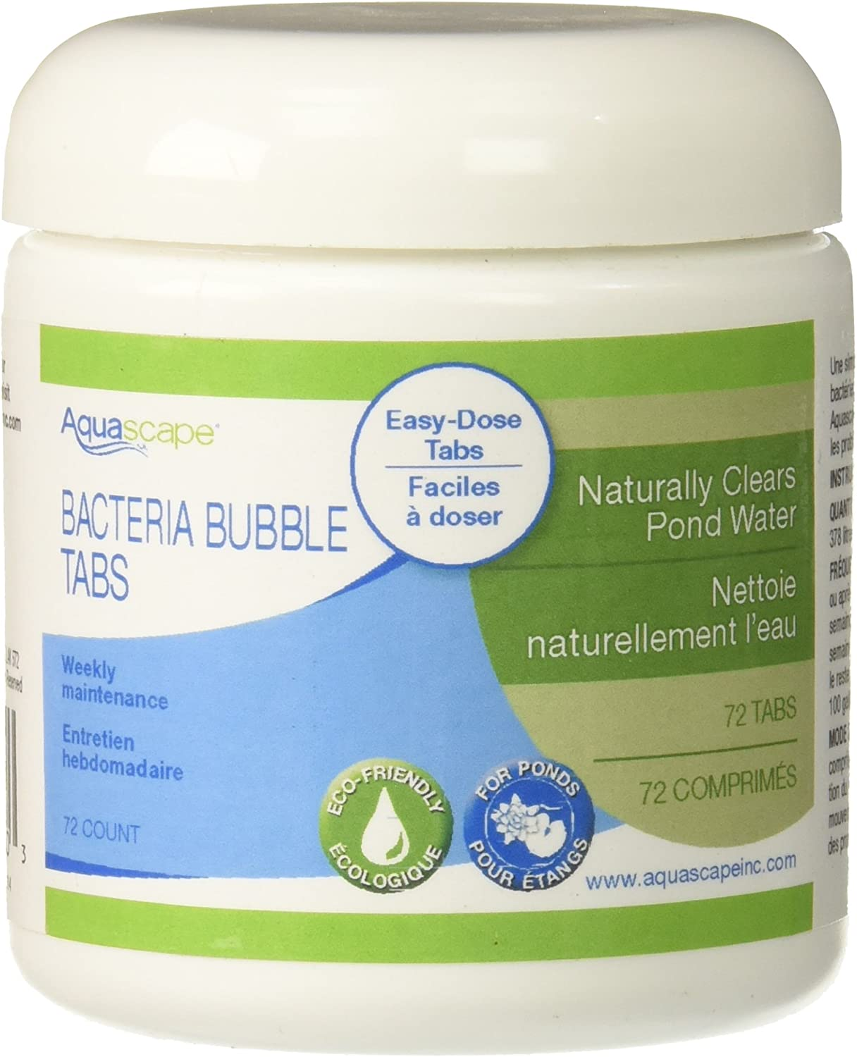 Aquascape 98930 Beneficial Bacteria Bubble Tabs for Pond and Water Features, 72Count