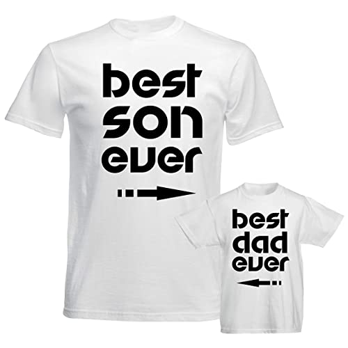 3fd362ad4b0 SuperPraise Father Daddy Daughter Dad Son Matching T Shirts Bodysuit Best Son  Dad Ever