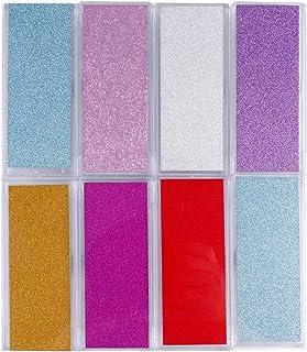 FRCOLOR 8 Stks Valse Wimpers Dozen Lege Wimper Case Glitter Plastic Wimper Opbergdoos Valse Wimpers Houder Verpakking Doos...