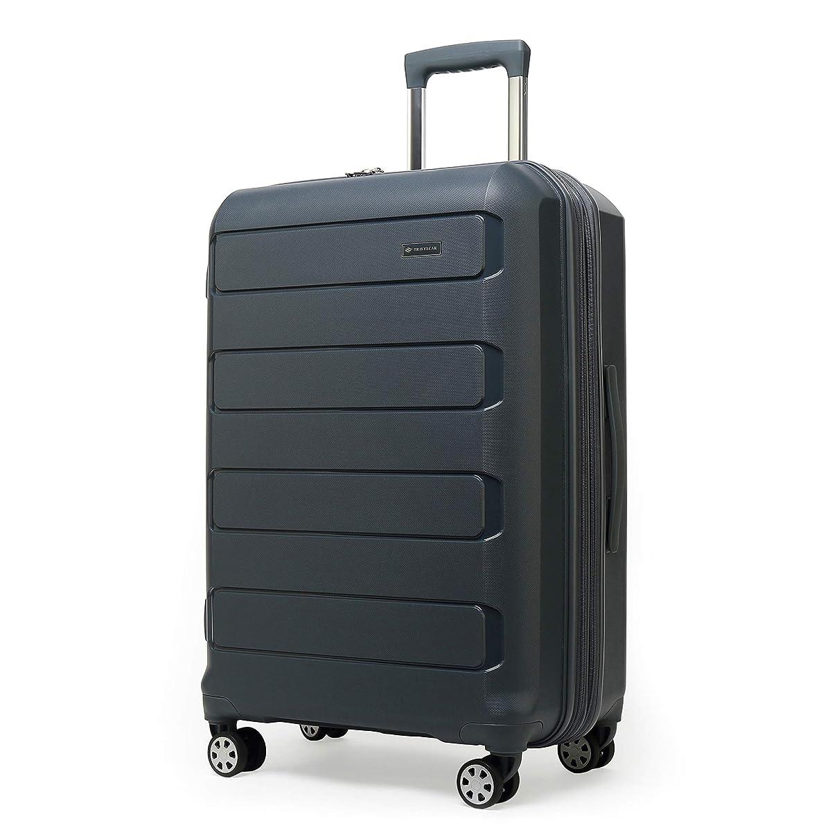 テメリティ検出するミットクロース(Kroeus)スーツケース キャリーケース 容量拡張機能 PP100%ボディ TSAロック搭載 8輪 ファスナータイプ 超軽量 日本語取扱説明書 1年間保証付き