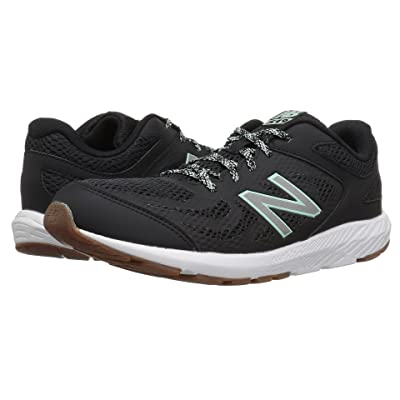 New Balance Kids KJ519v1Y (Little Kid/Big Kid) (Black/Seafoam) Girls Shoes