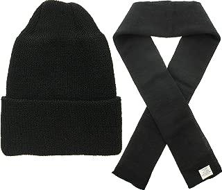 US Army Genuine GI Military 100% Wool Scarf & Military Genuine GI Winter USN Warm Wool Hat Watch Cap 2 Piece Set