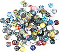 ROSENICE Mosaic Tiles 12mm Mixed Round for Crafts Glass Mosaic Supplies 200pcs