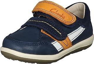 Clarks Boy's Softlyzakk FST Navy Combi Sneakers