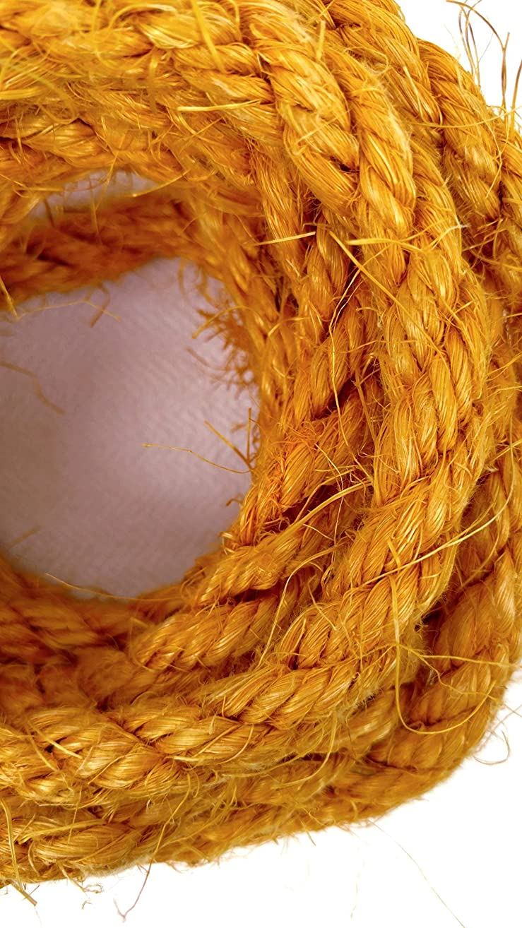 Gold Sisal Rope, Yellow Sisal Rope, Dyed Deep Yellow Color: 1/4