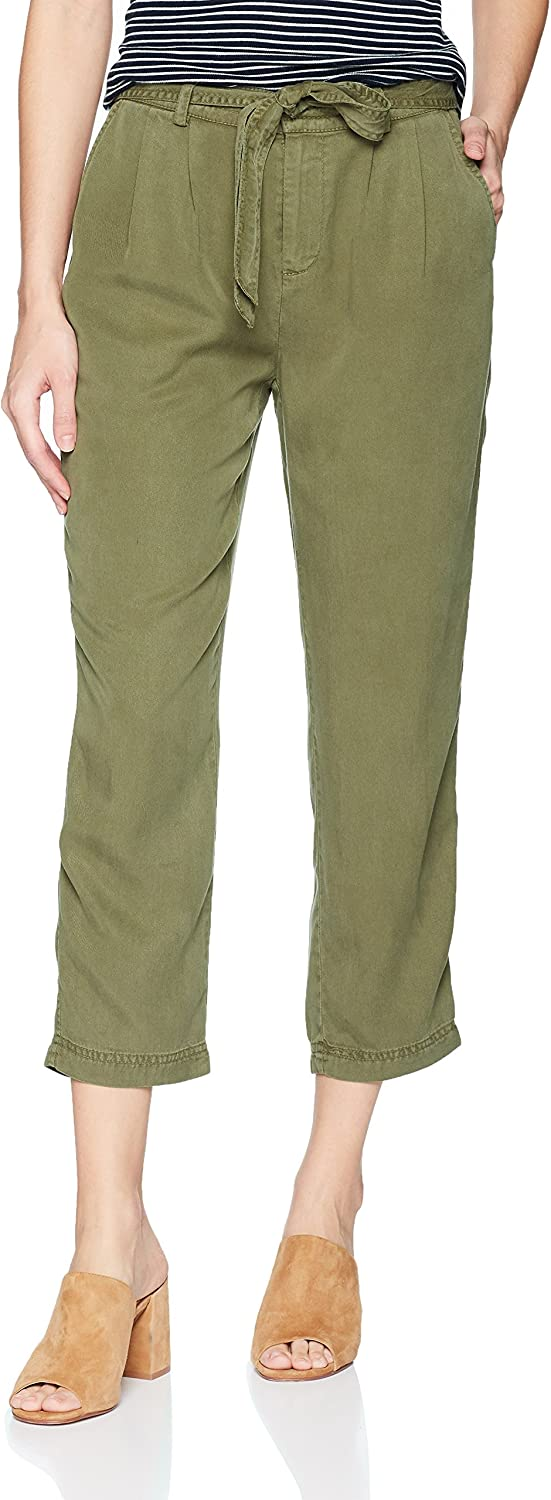 Three Dots Womens All Weather Twill Pleated 3 4 Loose Pant Business Casual Pants