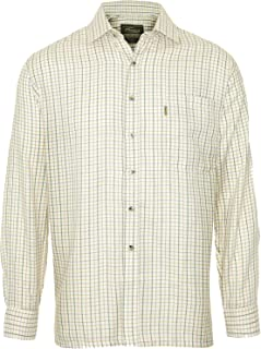 Mens Champion Tattersall Country Style Casual Long Sleeved Shirt Olive 2XL XXL Olive