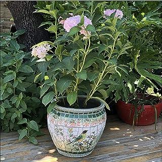 Kotee Blomkrukor Trädgårdsväxtbehållare planter mosaik keramik bonsai kruka blomma krukor spanien rund klassisk utomhus st...