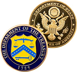 Art Crafter USDT United States Department of Treasury Challenge Coin Seal of The Department U.S. Treasury Seal Justice Badge D001J
