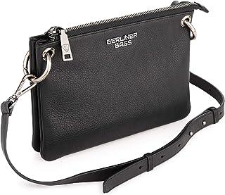 Berliner Bags Premium Umhängetasche Nice aus Leder, Kleine Abendtasche für Damen - Schwarz