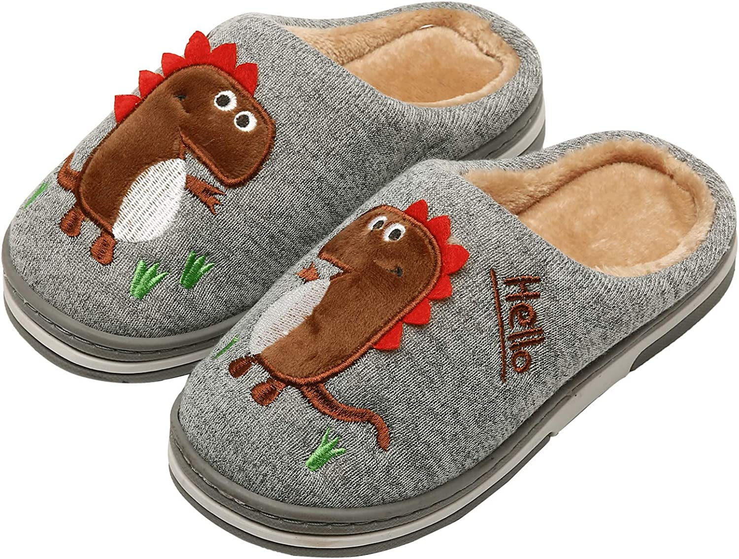 INMINPIN Boys Girls Cozy House SEAL limited product Cotton Warm Jacksonville Mall Plush Slippers Winter