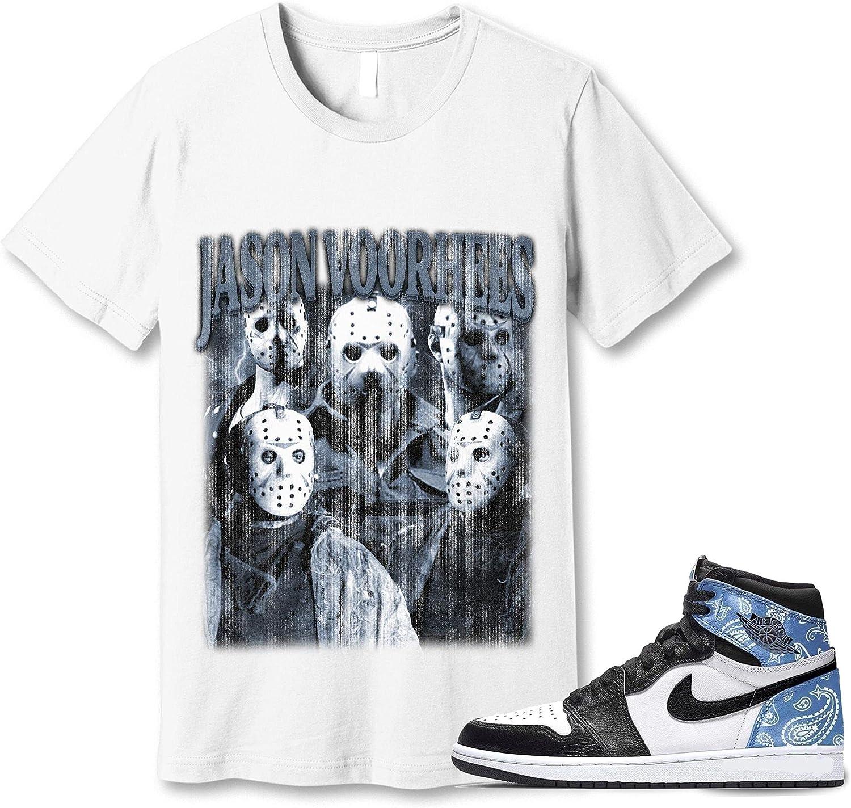 #Jason Seattle Mall #Voorhees T-Shirt to Match Sneaker Paisley Jordan 1 Albuquerque Mall Snkrs