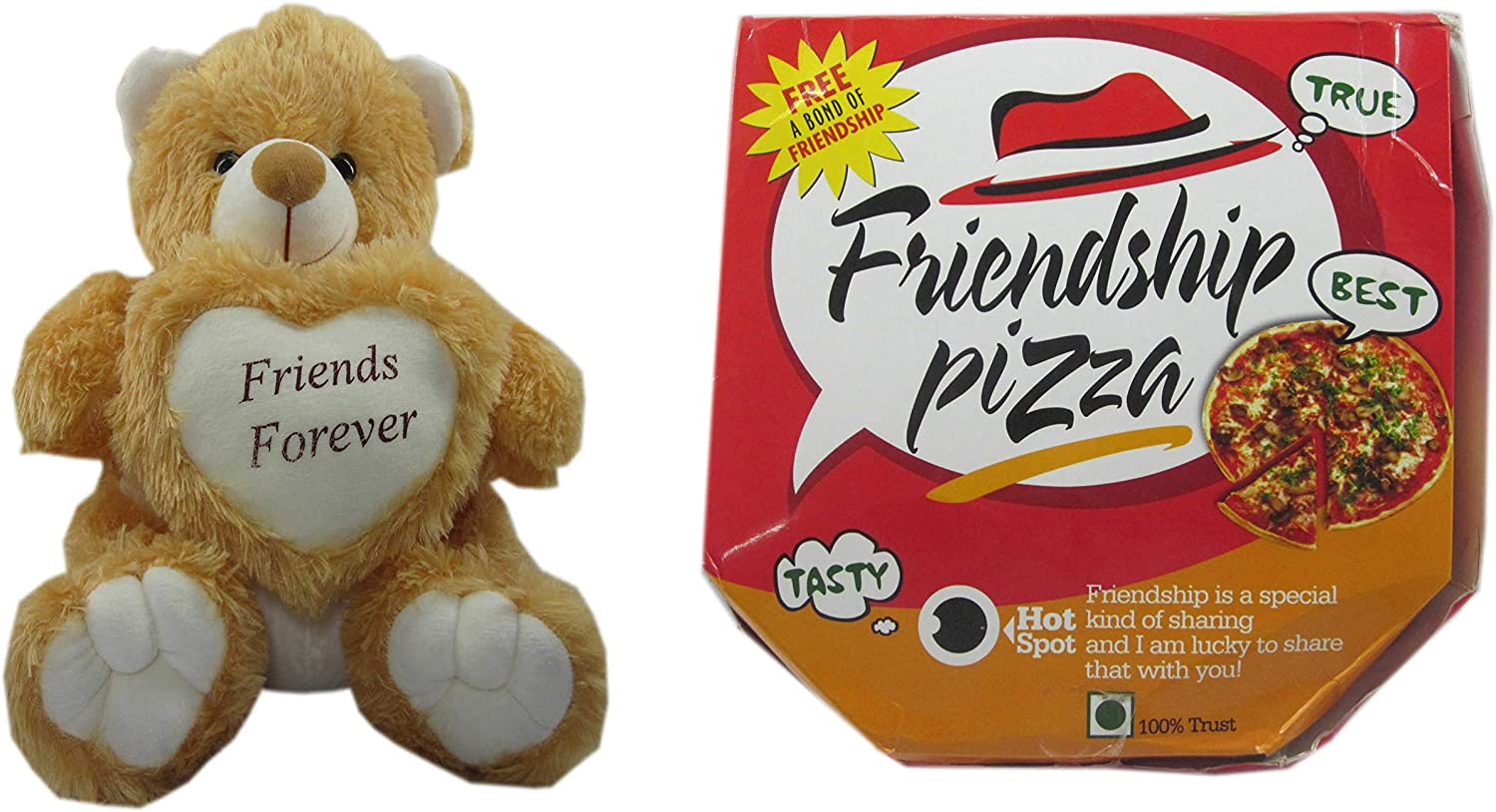 Handmade Teddy Bear Soft Toy Friend for Friends Pizza for Sister  Bredher Women Kids  36cm .