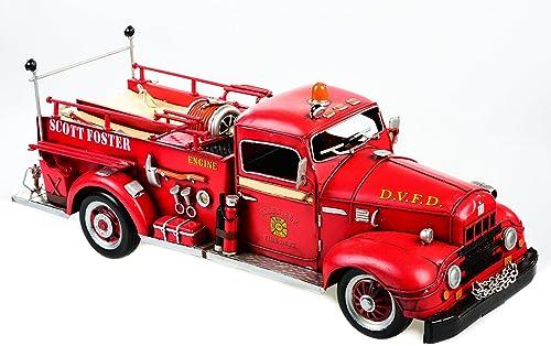 Modellauto aus Blech LKW Feuerwehr