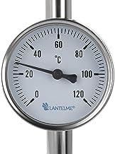 Lantelme Termómetro de instalación para calefacción, climatización, tubos de 0 a 120 °C, analógico, bimetálico, 7950