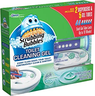 Scrubbing Bubbles Toilet, Rainshower (2 dispensers + 30 Gel Discs)