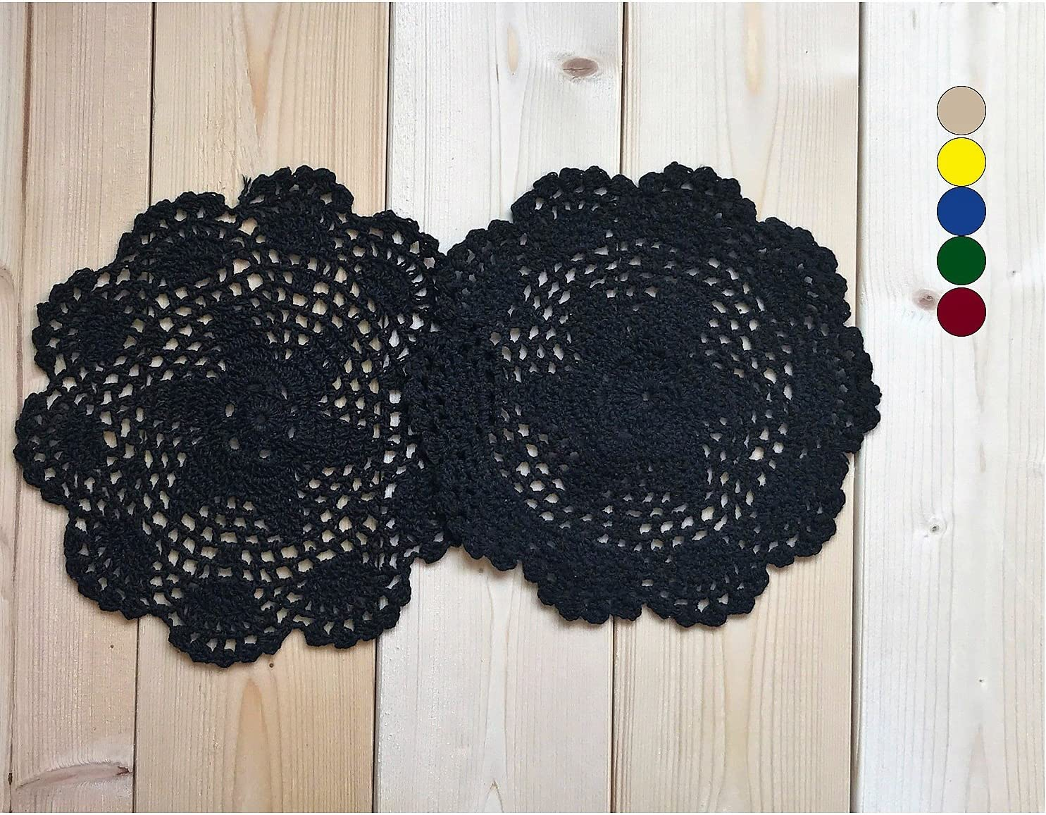 MAGO Directly managed store Handmade High quality Crochet Cotton lace doilies Decorations,