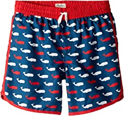 Whale Pod Swim Shorts (Toddler/Little Kids/Big Kids)