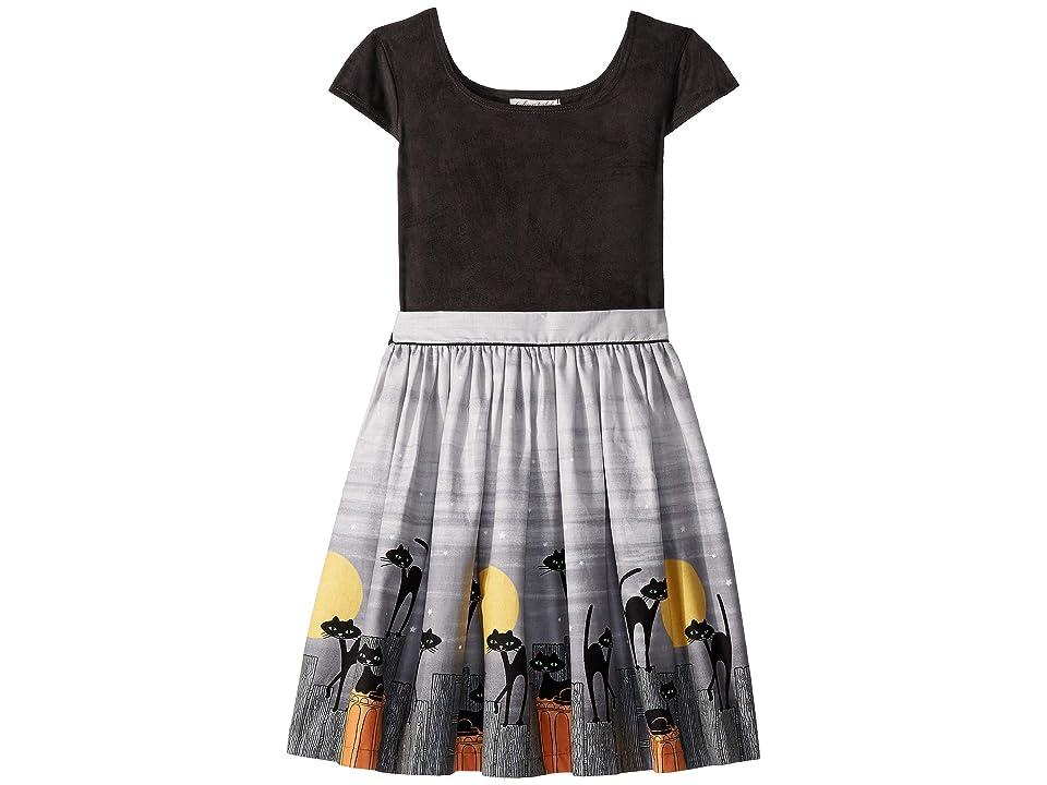 fiveloaves twofish Feline Maddy Dress (Little Kids/Big Kids) (Black) Girl