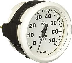 Faria 33104 Tachometer-7000 RPM, Dress White