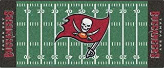 """FANMATS - 7368 NFL Tampa Bay Buccaneers Nylon Face Football Field Runner 30""""x72"""""""