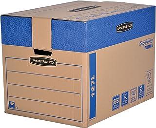 Fellowes 6205401 Caisses de déménagement à charge lourde montage automatique Bankers Box SmoothMove - Large - Lot de 5