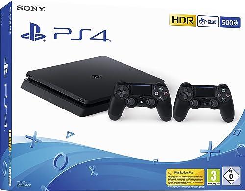 PS4 500 Go F Black + Manette 2ème DualShock PS4 - noir
