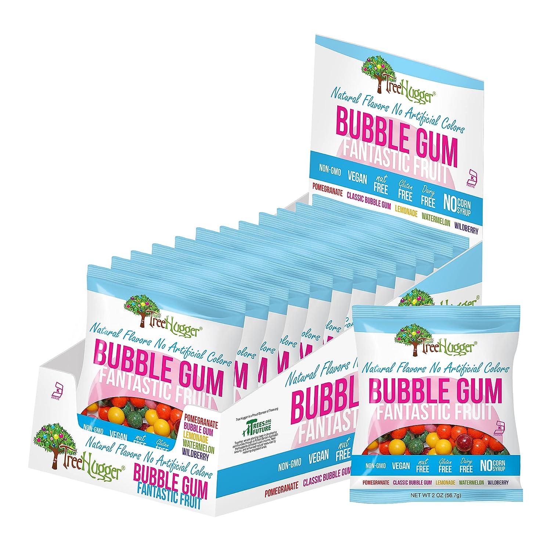 Tree Hugger Bubble Gum, Citrus Berry, Natural Flavors, No Artificial Colors, 120 Count Tub